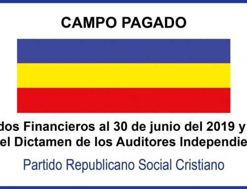 [Campo Pagado] Estados Financieros al 30 de junio del 2019 y 2018 con el Dictamen de los Auditores Independientes PRSC