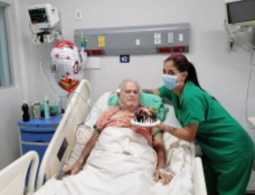 Don Aurelio venció el covid-19 a sus 82 años tras pasar 35 días internado