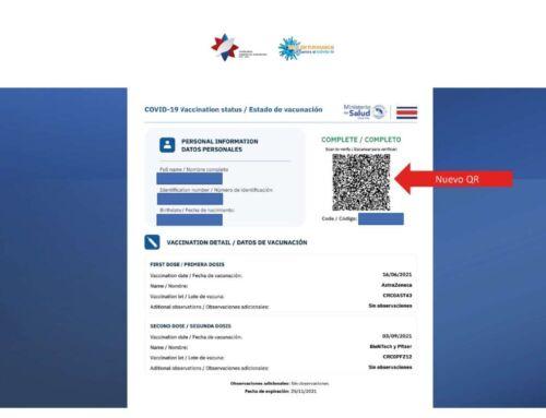 Cómo solicitar su Código QR de certificado de vacunación COVID-19 | Velero.cr